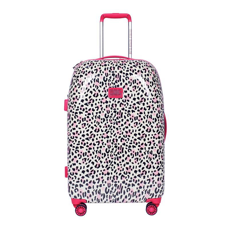 DOUBLE DUTCH CLUBDDC 甜美粉紅豹纹行李箱超静音拉杆箱带海关锁