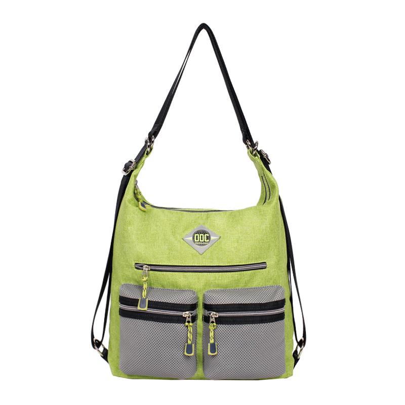 新品DOUBLE DUTCH CLUB同款潮流夹层手提涤纶双根拉链袋女士包袋